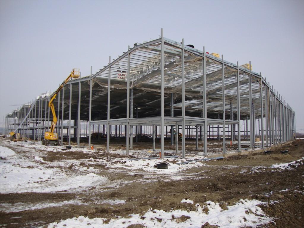 Bâtiment métallique industriel