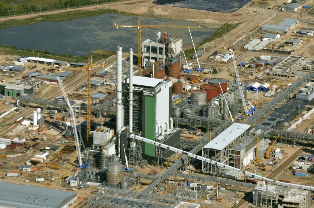 Structure métallique pour complexe industriel de cellulose
