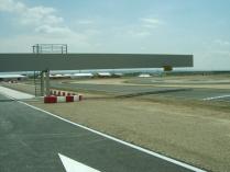 Estructura metálica para semáforo del Circuito de Karts de Zuera