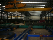 Estructuras metálicas para naves industriales con puente grúa