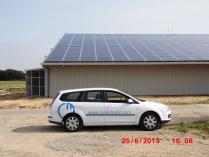 Hangar fotovoltaico. Lussac-les-Châteaux (Francia)