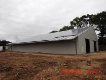 Hangar photovoltaïque. Limoges 87 (France)