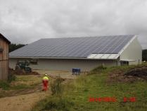 Structure agricole photovoltaïque. Guéret 23 (France)