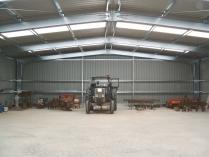 Nave prefabricada almacén agrícola ECORAPID. 300 m2 Alfindén (Zaragoza)