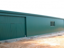 Nave agrícola prefabricada ECORAPID. Panel sándwich. Algaida (Mallorca). 240m2