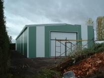 Nave prefabricada para almacén agrícola metálico desmontable ECORAPID. Ciudad Real. 300 m2