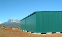 Nave prefabricada modular ECORAPID. Coscujuela de Sobrarbe (Huesca). 375 m2