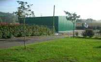 Nave almacén ECORAPID desmontable (reubicable) para vivero. Cubas (Cantabria). 240 m2