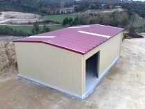 Almacén agrícola modular desmontable ECORAPID 150m2. Maçanet de la Selva (Gerona)