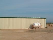 Almacén modular prefabricado desmontable ECORAPID. 200 m2 Montolíu (Lérida)
