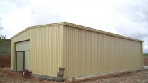 Nave almacén modular prefabricada ECORAPID. Peñalver (Guadalajara). 150 m2