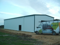 Nave almacén agrícola ECORAPID desmontable (reubicable). Tapia de Casariego (Asturias). 250 m2