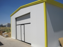 Almacén modular metalico. 120m2 Camarma de Esteruelas (Madrid)