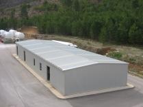 Piscifactoría. Nave modular ECORAPID en Aliaga (Teruel). 480 m2