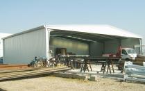 Nave modular ampliable ECORAPID. Taller pintura. Canovelles (Barcelona). 360 m2