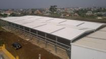 Ampliación almacén modular metálico ECORAPID 2600m2. Malabo (Guinea Ecuatorial)