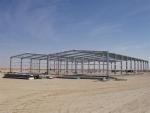 Estructura prefabricada 100% desmontable ECORAPID - Montaje de estructura metálica modular en Mauritania.