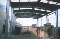 Estructura y cubierta metálica nave modular ECORAPID. Colmenar Viejo (Madrid). 250 m2