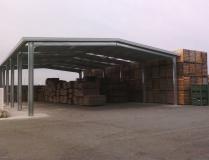 Muelle carga bajo cubierta modular ECORAPID 400m2 Navarra