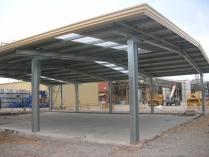 Estructura y cubierta metálica simple. Nave ECORAPID. Tarragona. 300 m2