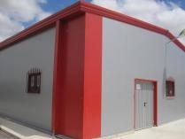 Nave modular prefabricada ECORAPID en Falces (Navarra). 418 m2