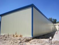 Estructura metálica modular. Panel sándwich 60 mm. Aulas en Pozuelo de Alarcón (Madrid)