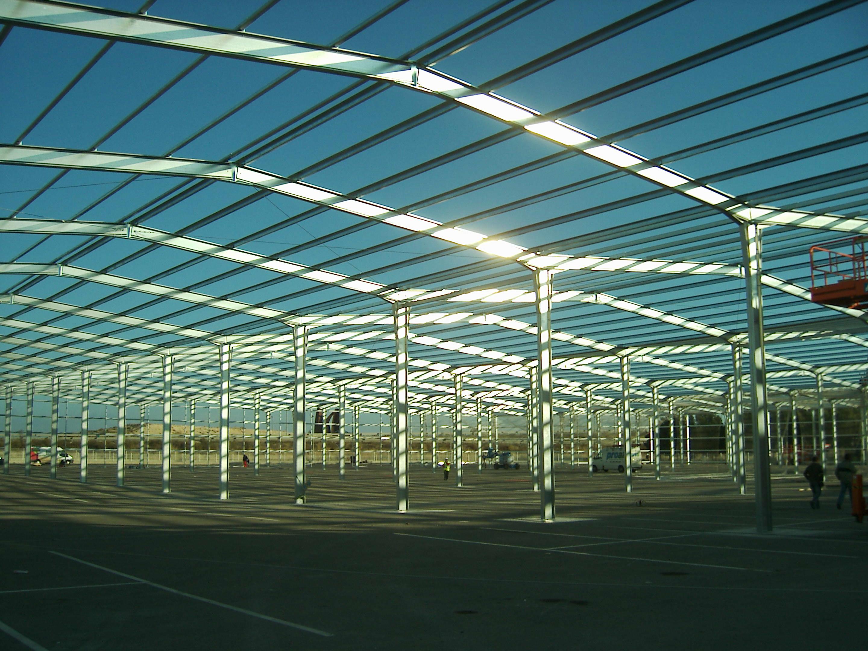 Hangar extensible métallique ECORAPID