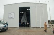 Hangar metálico ECORAPID para embarcaciones de vela. Puerto de Cádiz. 375 m2