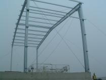 Hangar metálico modular ECORAPID para aviones. Aeropuerto Vitoria (Álava). 330 m2