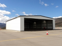 Hangar metálico modular ECORAPID para helicópteros. La Seu d'Urgell (Lérida). 475 m2