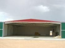 Hangar metálico modular ECORAPID para aviones. Torremocha del Jiloca (Teruel). 270 m2