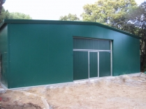 Parques log sticos ecorapid galpones modulares for Garaje metalico prefabricado