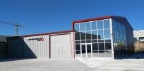 Nave industrial prefabricada con entreplanta 520+130m2, La Muela (Zaragoza)
