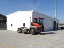 Nave logística metálica Serie ECORAPID. 275 m2. Puerto de Barcelona