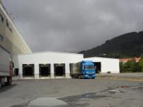 Naves modulares ECORAPID de 3.000 m2, con muelles de carga, en Mondragón (Guipúzcoa)