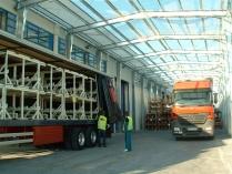 Nave prefabricada desmontable ECORAPID de 575 m2 en Pamplona
