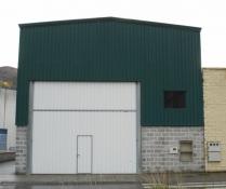 Promoción de naves prefabricadas ECORAPID. Taller. Mieres (Asturias). 260 m2