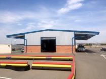 Nave modular ECORAPID. 200 m2. Con alero-porche. Zuera (Zaragoza)