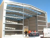 Nave desmontable y reubicable ECORAPID. Valdilecha (Madrid). 300 m2 y 8 de altura