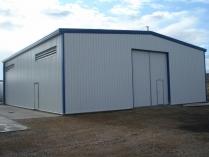 Nave industrial ECORAPID para planta depuradora. La Zaida (Zaragoza). 240 m2