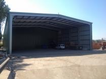 Nave modular prefabricada ECORAPID para planta recicladora. Sant Cugat del Valles (Barcelona). 1.430 m2