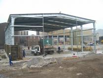 Nave modular prefabricada ampliable ECORAPID. Acería en Santander (Cantabria). 600 m2