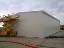 Nave modular prefabricada ECORAPIDen Aeropuerto de Barajas-T4 (Madrid). 270 m2