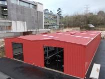 Nave modular metálica en complejo industrial ECORAPID. 800m2 Avilés (Asturias)