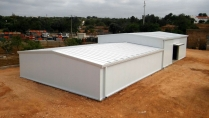 Almacén modular metálico ECORAPID. 360m2 Portugal