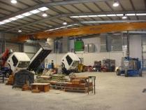 Nave ECORAPID taller vehículos industriales en Ledanca (Guadalajara)