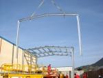 Nave modular prefabricada Ecorapid - Estructura metálica de nave modular prefabricada
