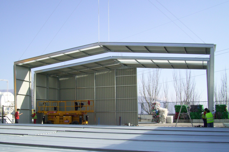 Estructura metálica modular de nave prefabricada
