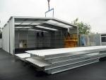 Estructura metálica modular de nave prefabricada - Terreno sin apenas cimentación.