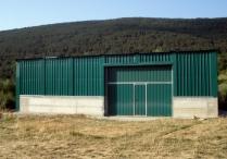 Ampliación nave plegable desmontable PLENAVE 7.3 instalada en Yosa de Sobremonte (Huesca)